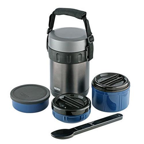 Купить Термос для еды с контейнерами тм Thermos jbg-2000 (black) 2.0л, Китай, сталь нержавеющая