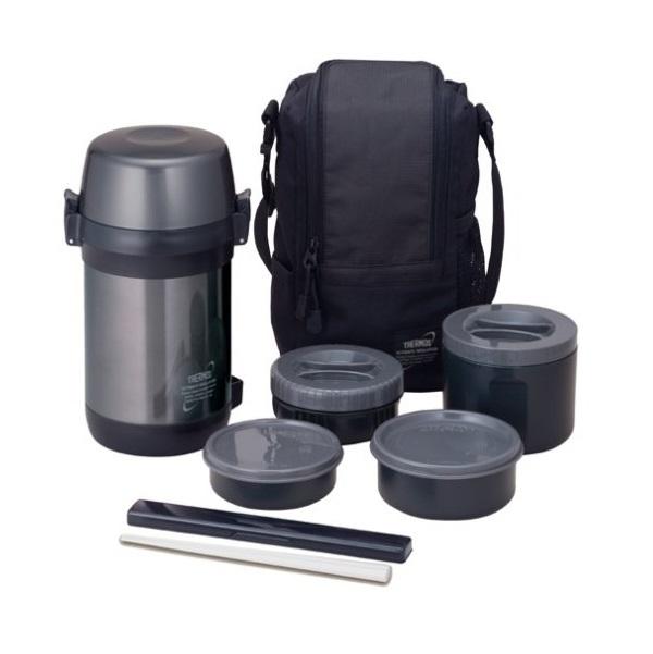 Купить Термос с пластиковыми контейнерами и ложкой тм Thermos jls-1601 food 1.6л, Китай, сталь нержавеющая