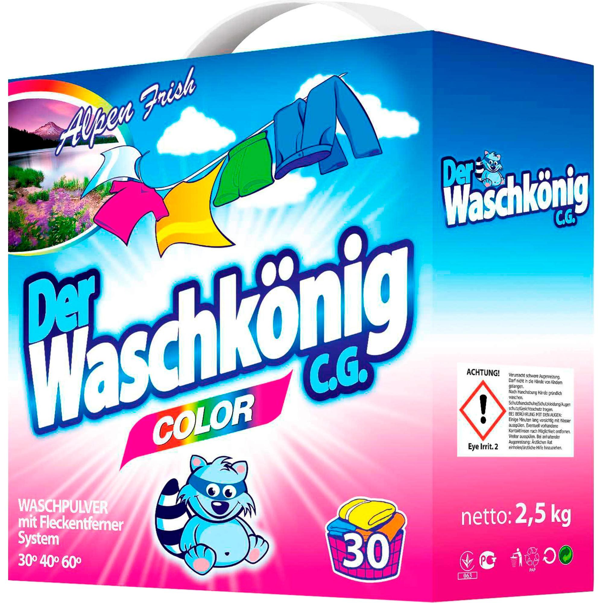 Стиральный порошок Der Waschkonig C.G. Color Для цветного белья 2,5 кг недорого