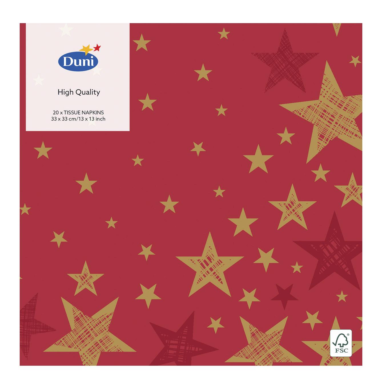 Салфетки Duni Shining Star Red трехслойные 33x33 см 20 шт одеяло евро shining star shining star mp002xu086zx