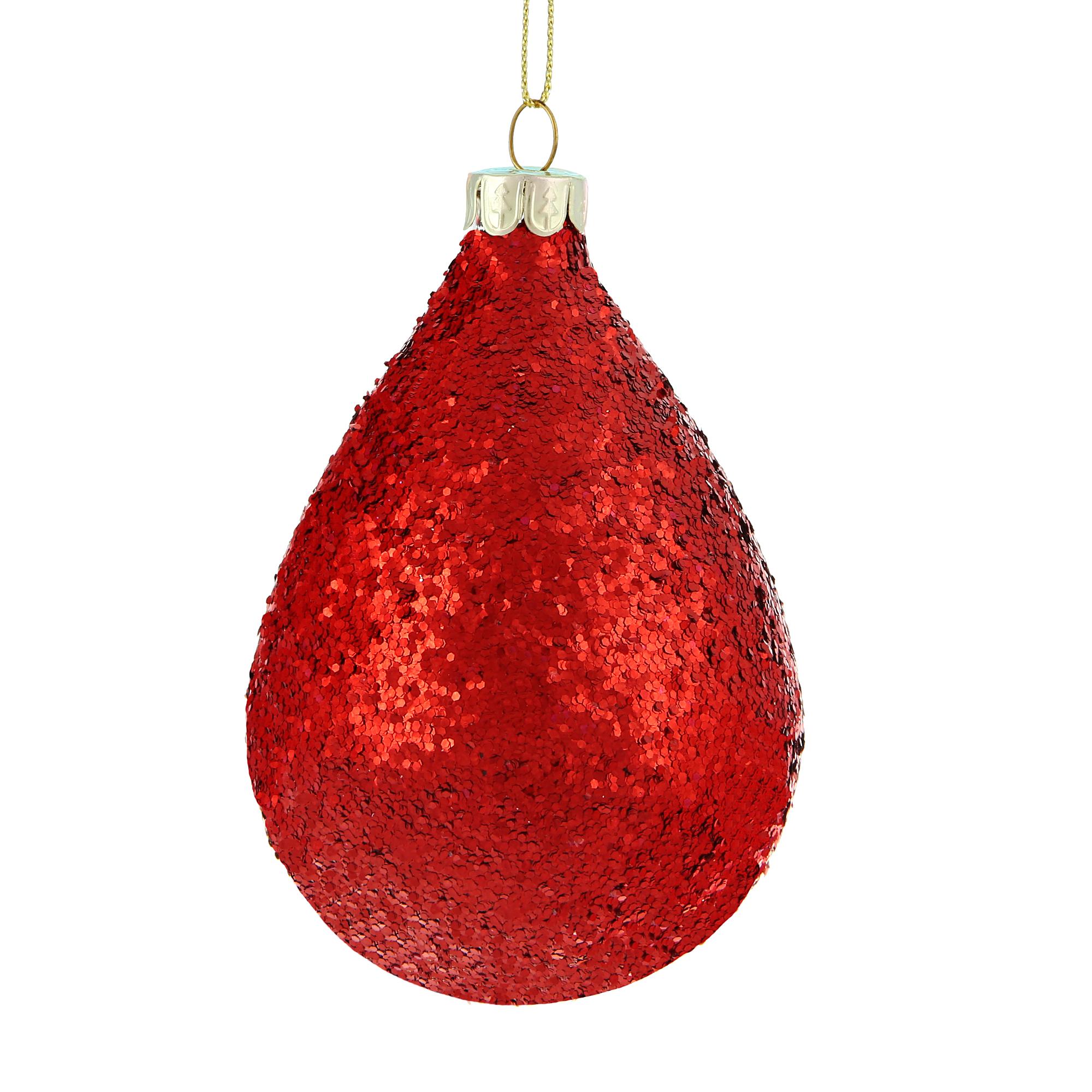 Игрушка елочная Bizzotto NY lurex rosso