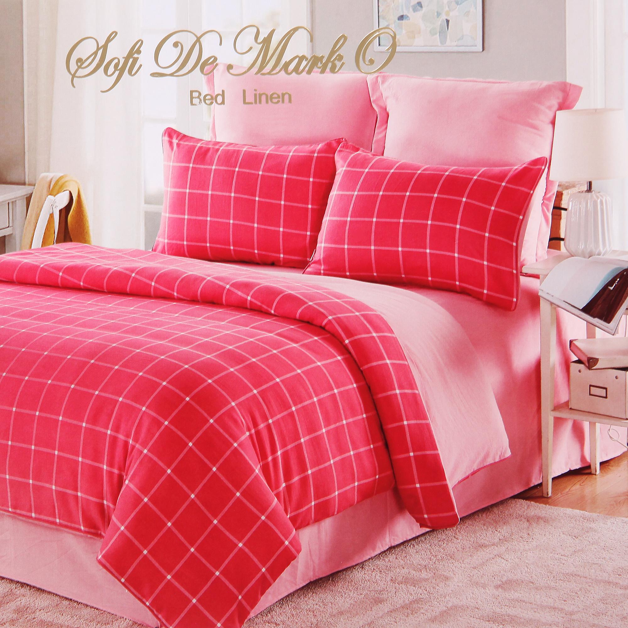 Постельный комплект Sofi de marko евро 200х220 элман розовый