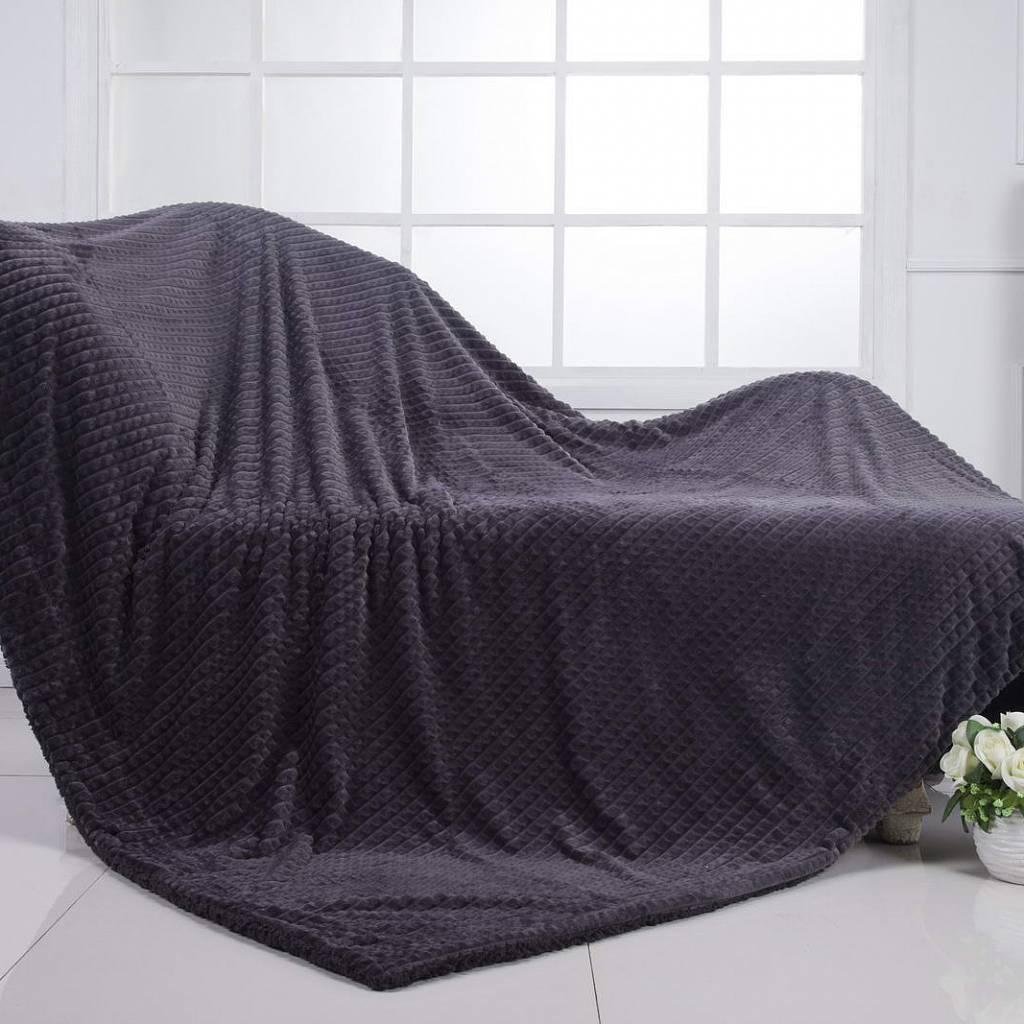 Плед двухсторонний Sofi de marko fantastic 160х220 серый