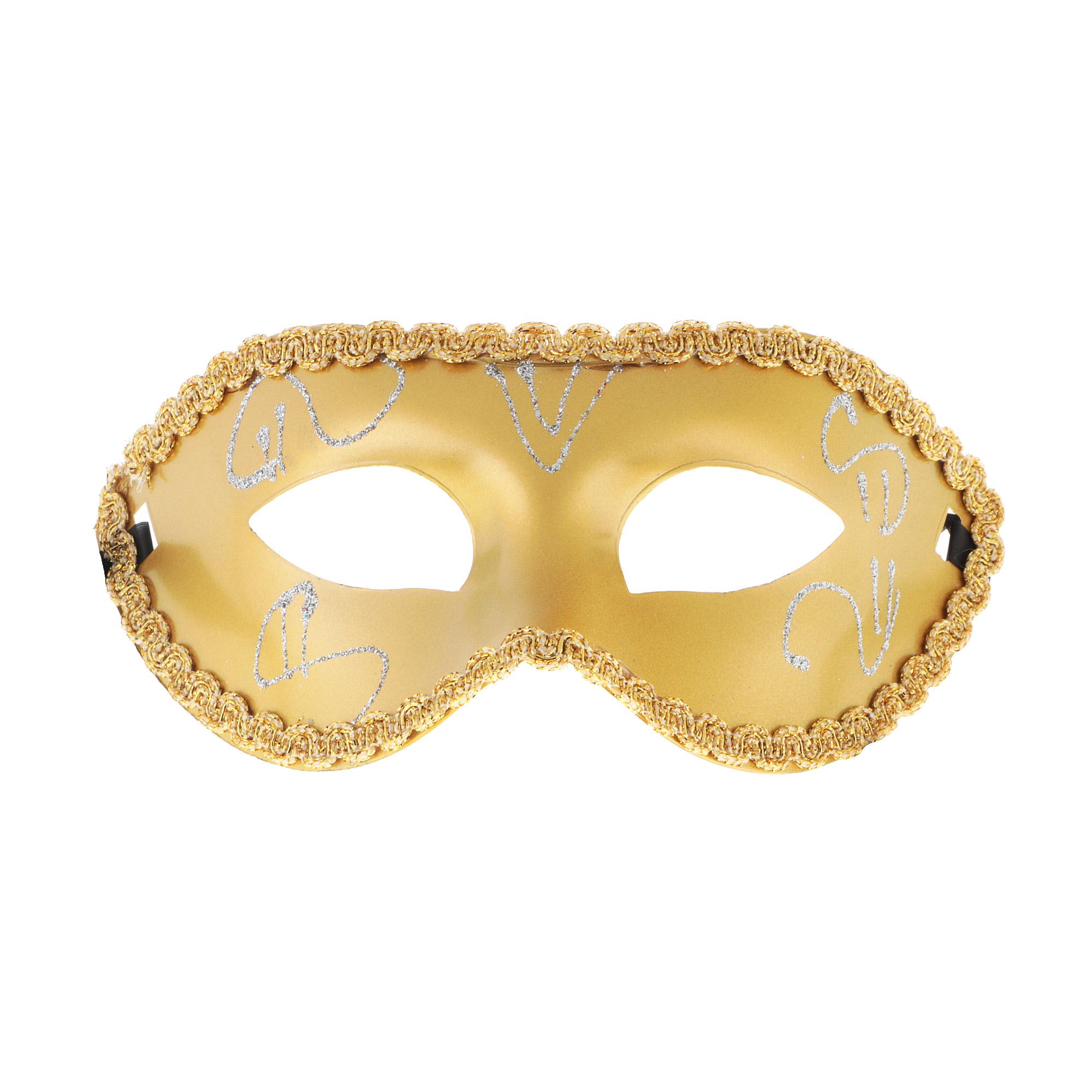 Полумаска с росписью золото Кубера полумаска 3м 8112