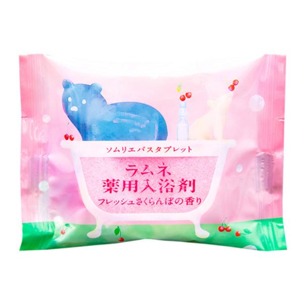 Соль-таблетка для ванн Charley Sommelier Расслабляющая с ароматом цветущей сакуры 40 г.