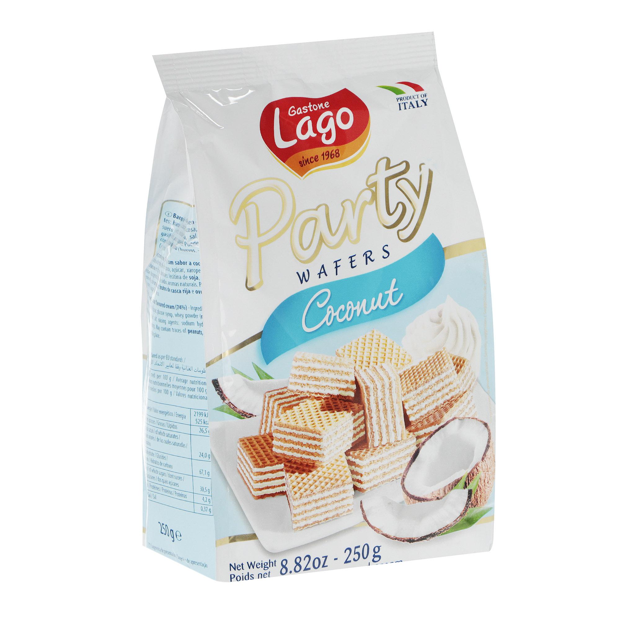 Вафли Gastone Lago с кокосовой начинкой, 250 г недорого