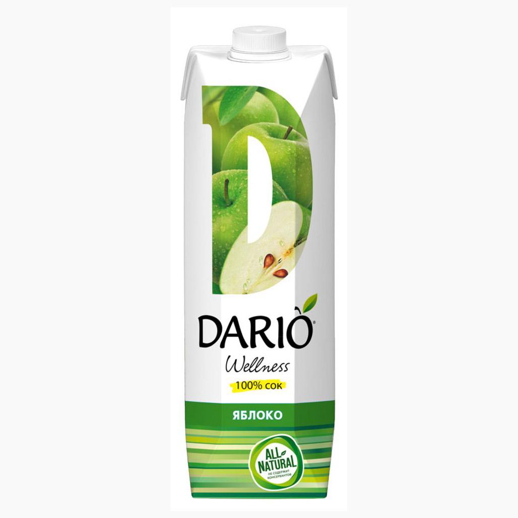 Сок Dario Wellness зелёное яблоко 1 л