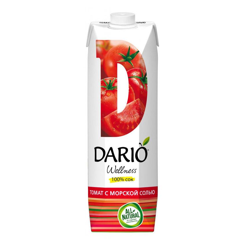 Сок Dario Wellness томатный с солью 1 л