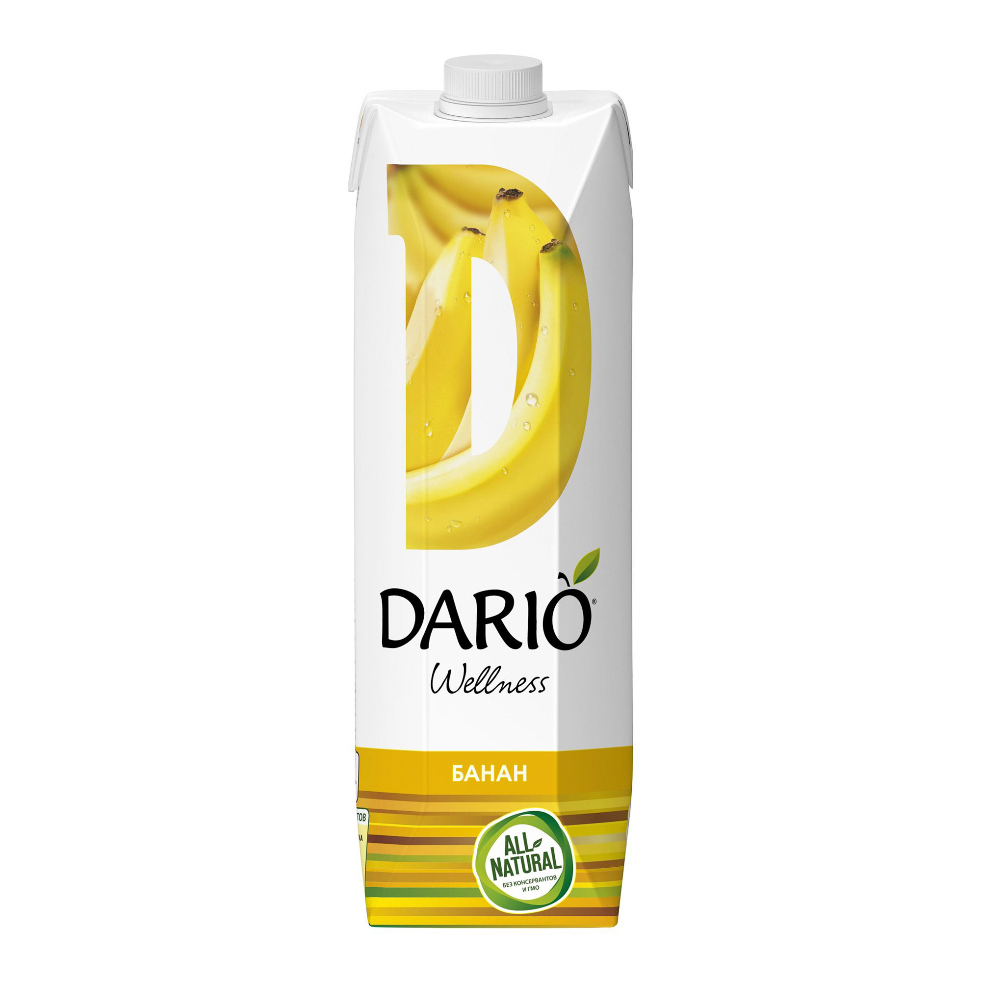 Нектар Dario Wellness банан с мякотью 1 л
