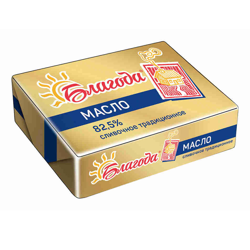 творог благода домашний 5% 250 г Масло сливочное Благода Традиционное 82,5% 180 г