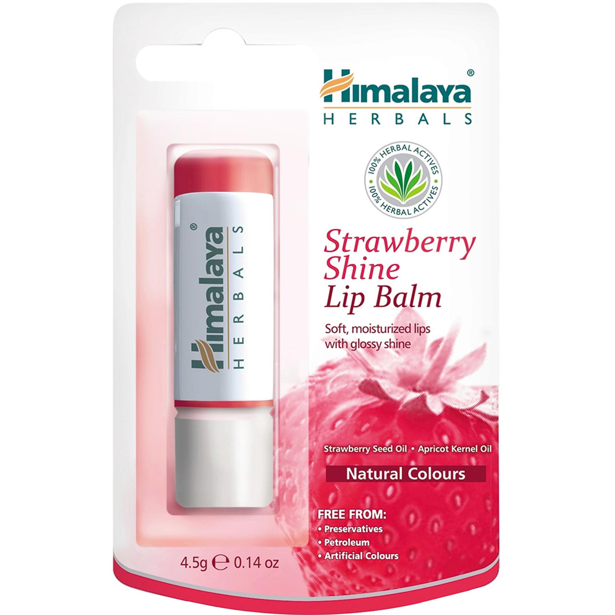 Фото - Бальзам для губ Himalaya Herbals Клубничный блеск 4,5 г блеск для губ детский принцесса двойной клубничный мусс 2х5мл