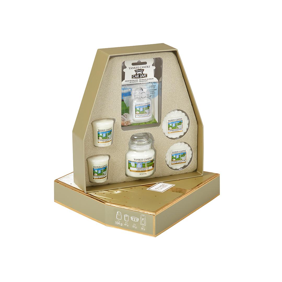 Набор подарочный Yankee candle Чистый хлопок фото