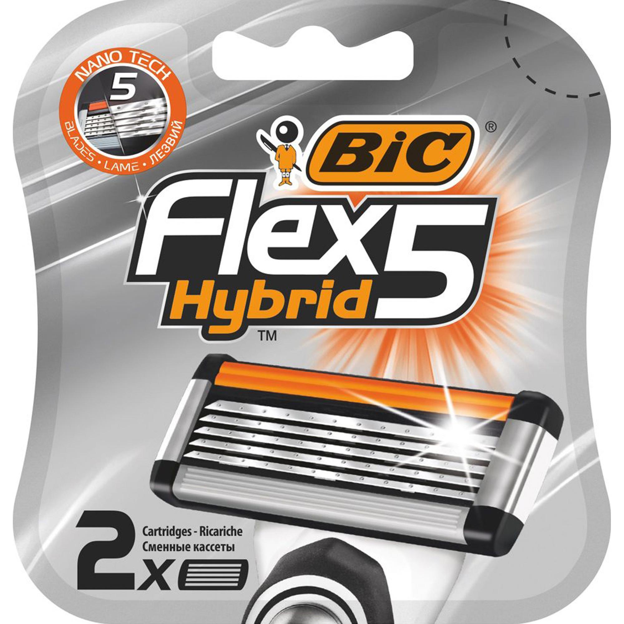Сменные кассеты для бритья BIC Flex Hybrid 5 2 шт.