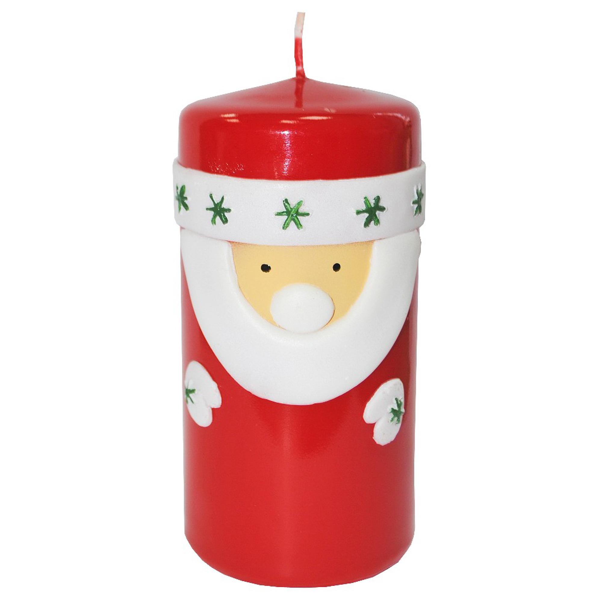 Свеча новогодняя Кадриль Дед Мороз 58 мм