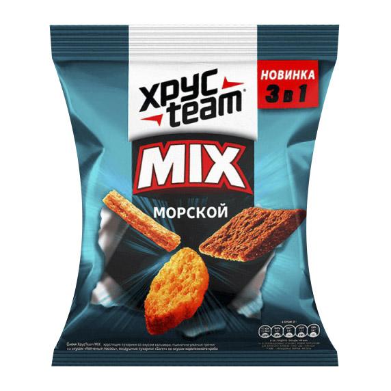 Сухарики Хрусteam Mix Морской 100 г