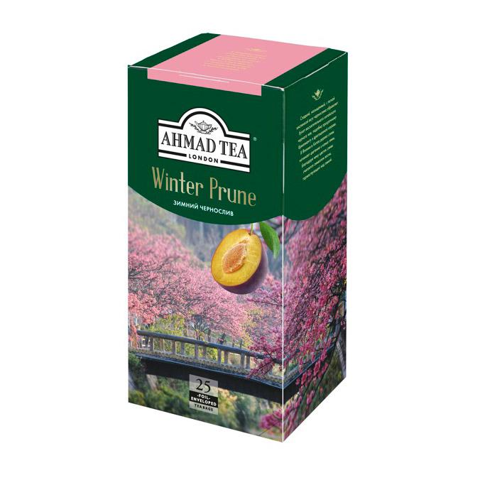 Чай Ahmad Tea Winter Prune черный байховый с черносливом 25 пакетиков фото
