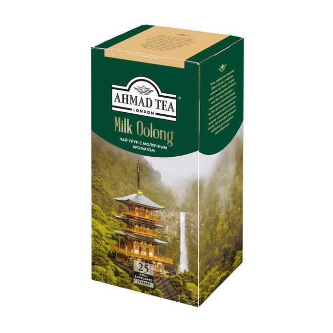Чай Ahmad Tea Молочный Улун зеленый 25 пакетиков чай ahmad tea strawberry mousse зеленый 20 пакетиков