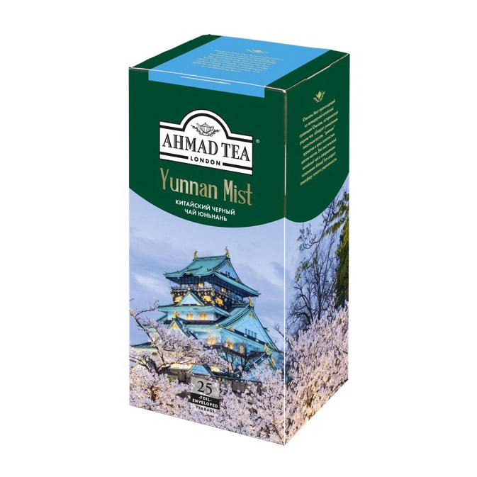 Чай Ahmad Tea Yunnan Mist черный 25 пакетиков чай черный greenfield magic yunnan 25 пакетиков