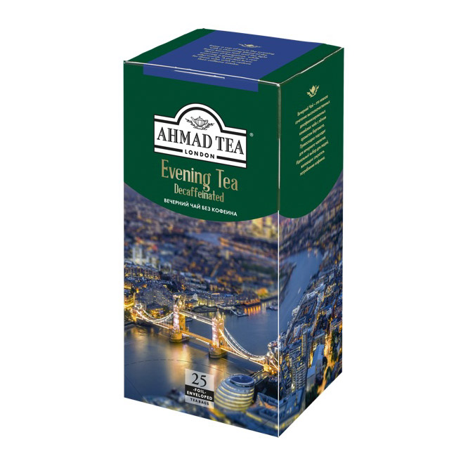 Чай Ahmad Evening Tea Decaffeinated черный без кофеина 25 пакетиков