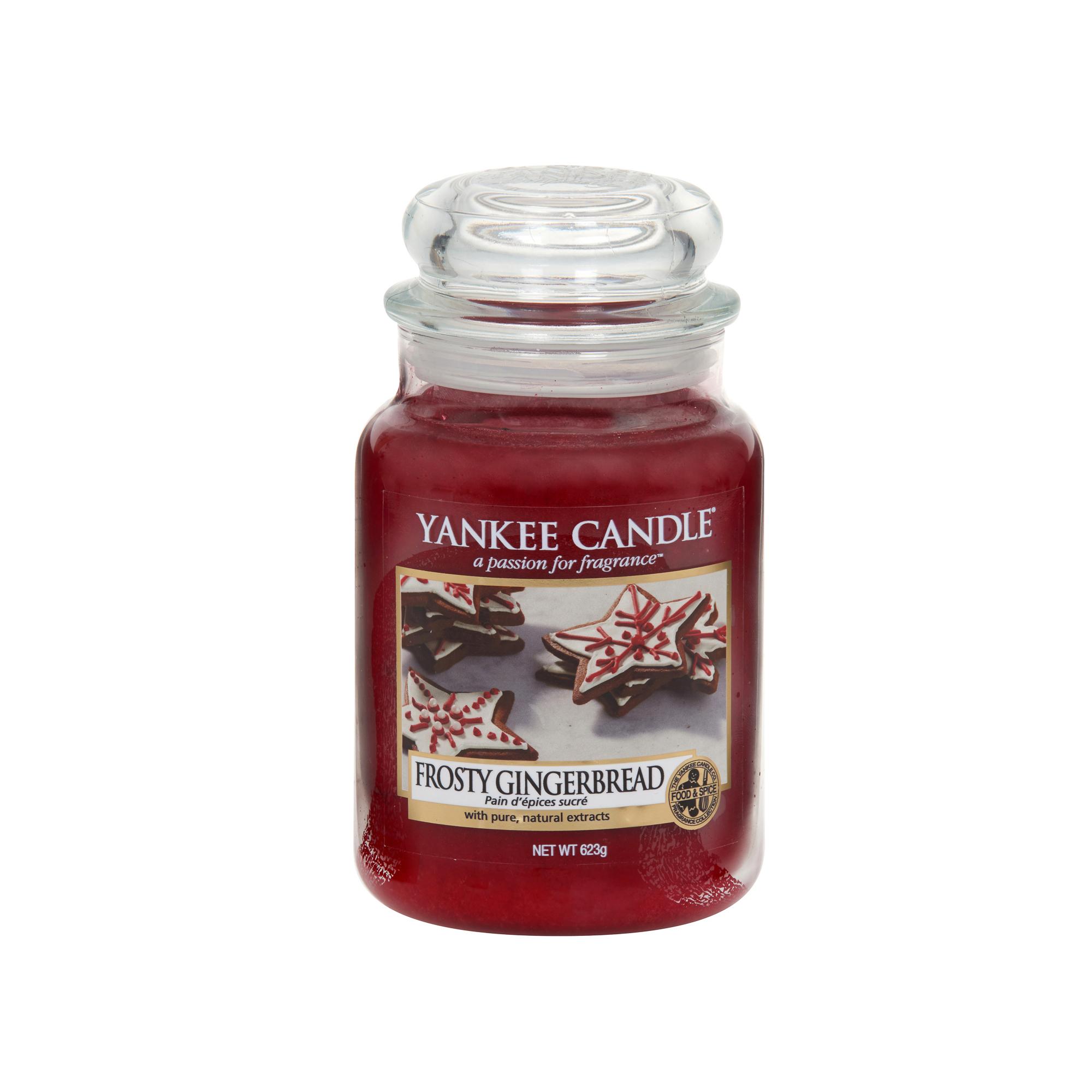 Аромасвеча в большой банке Морозный пряник Yankee candle фото