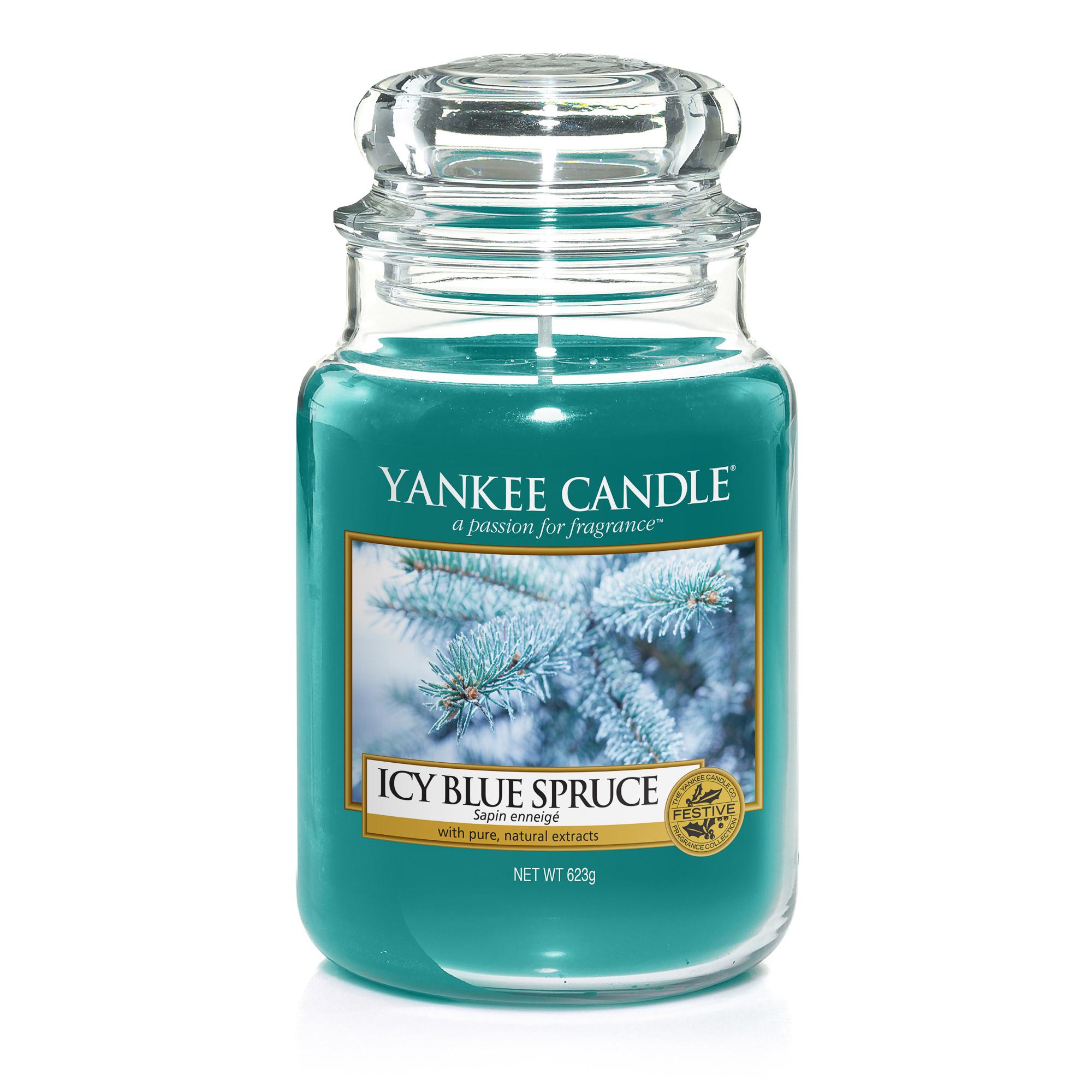 Аромасвеча в большой банке Заснеженная ель Yankee candle фото