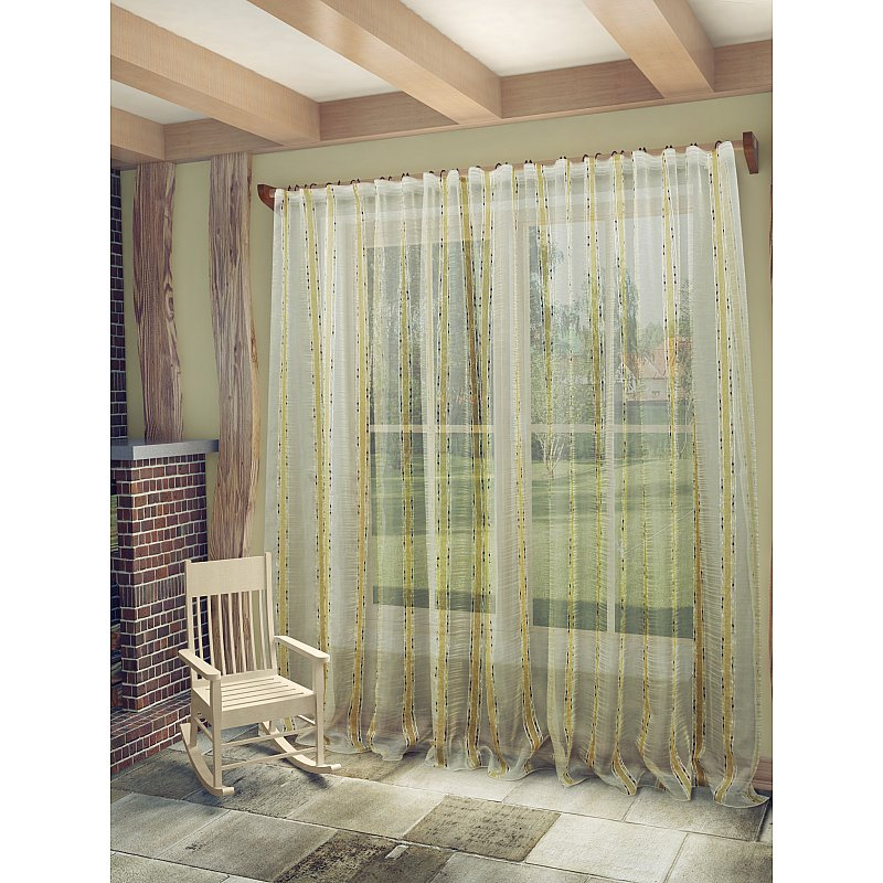 Тюль Sanpa Home Collection Брук 300х260 см бежево-коричневый тюль томдом хлои бежево персиковый
