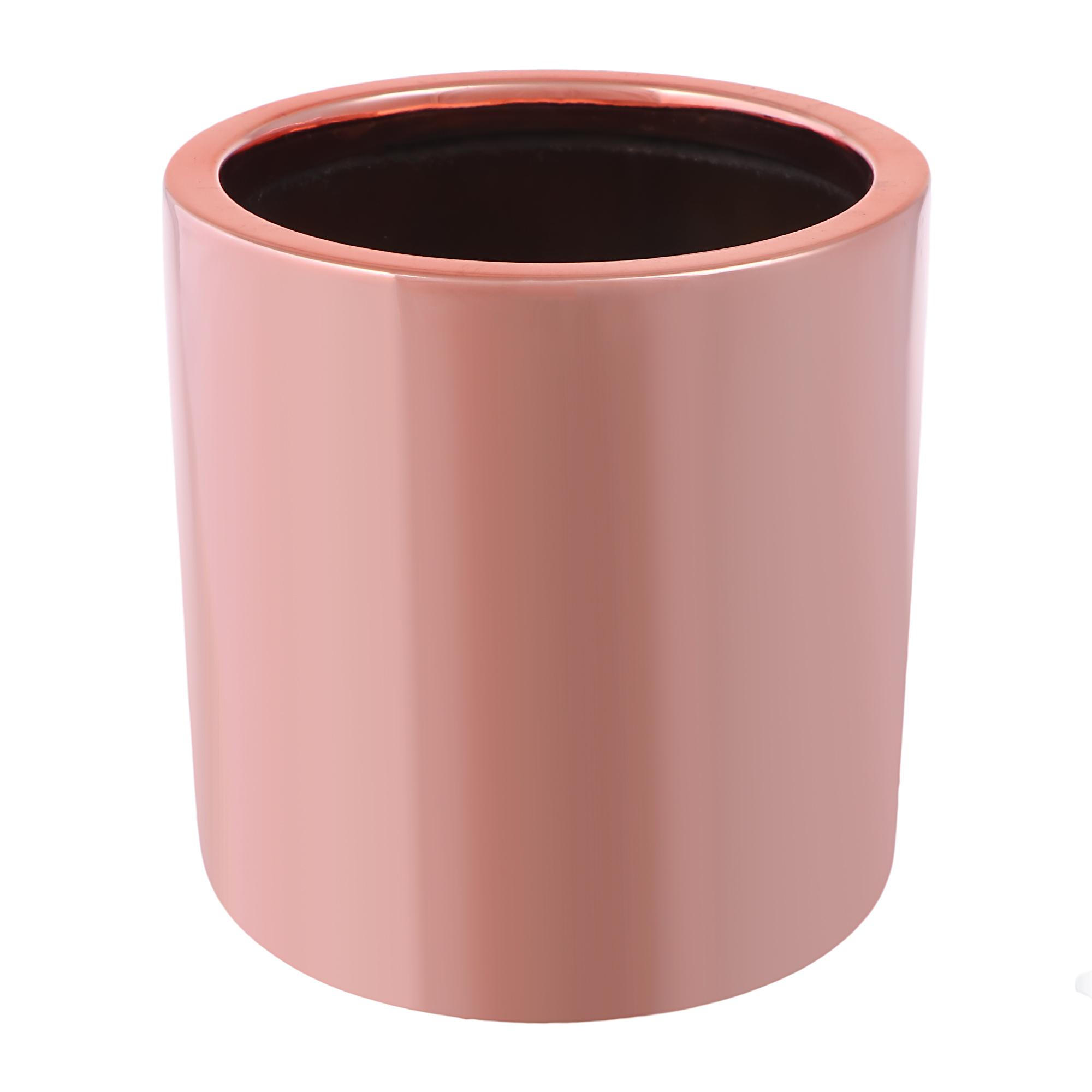 Кашпо Pottery Pots Puk 15х15 см розовая платина