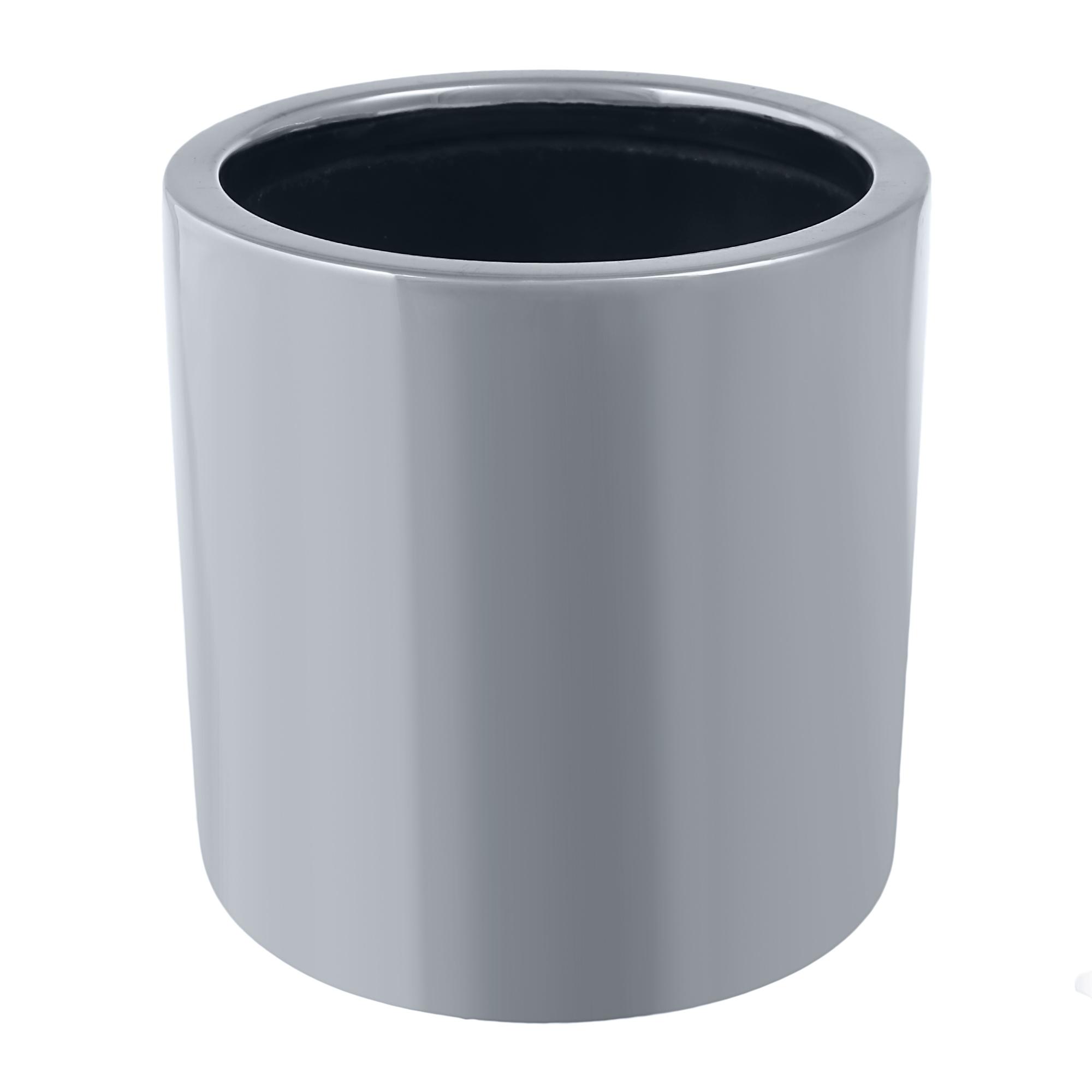 Кашпо Pottery Pots Puk 15х15 см серебро