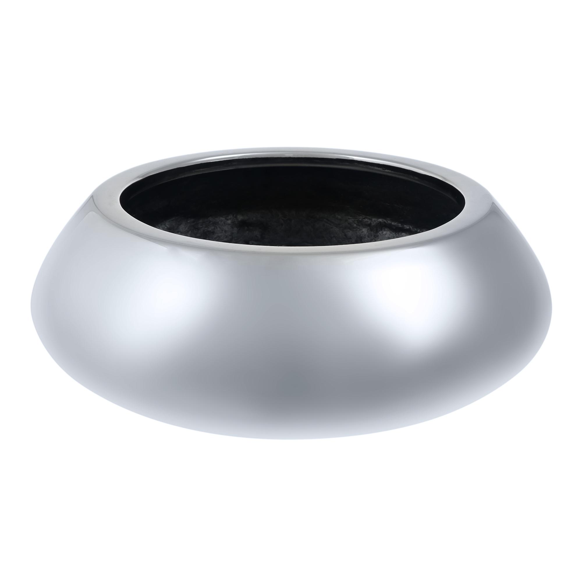 Кашпо Pottery Pots Tara 30х12 см серебро