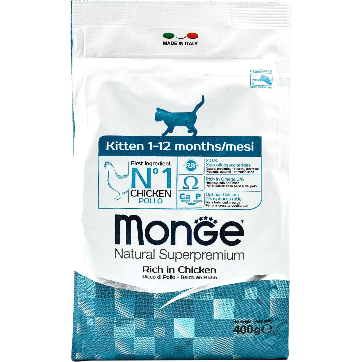 Корм для котят Monge Cat Kitten со вкусом курицы 400 г фото