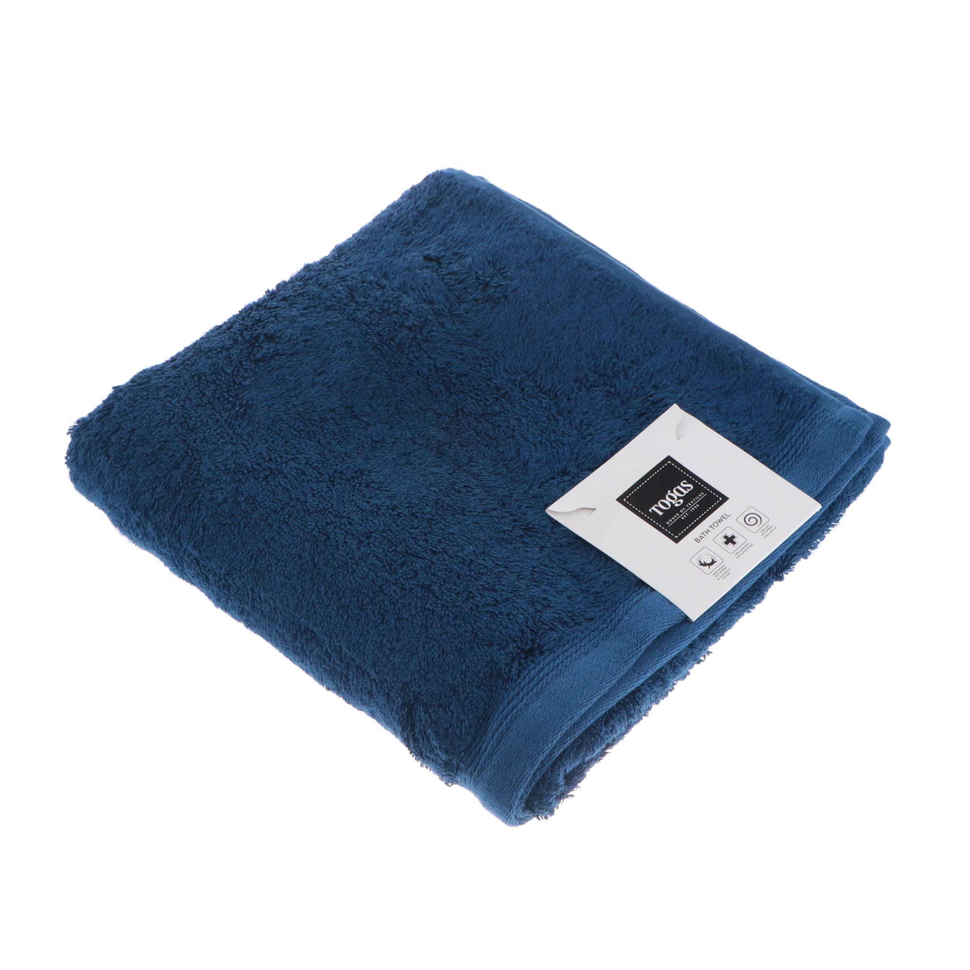 Купить со скидкой Полотенце Togas Пуатье темно-синее 40х60 см