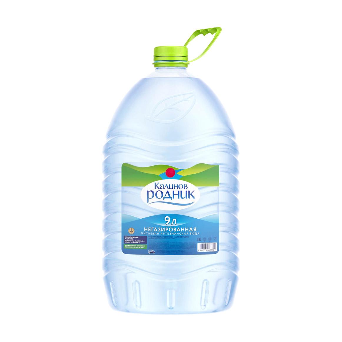 Вода минеральная Калинов Родник негазированная 9 л вода минеральная калинов родник газированная пэт 6 шт по 1 5 л