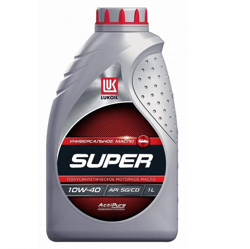 Масло моторное полусинтетическое Лукойл Супер 10W-40 (1л)