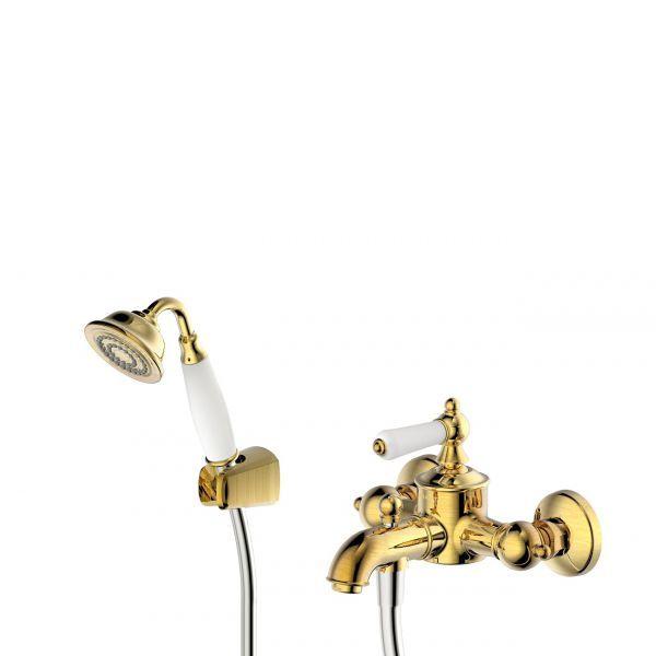 Смеситель ART для ванны к. излив, бронза Bravat фото