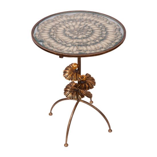 Столик декоративный Bogacho Терра Роуз (веер) столик декоративный bogacho терра роуз веер айс бл цв к античное серебро аср