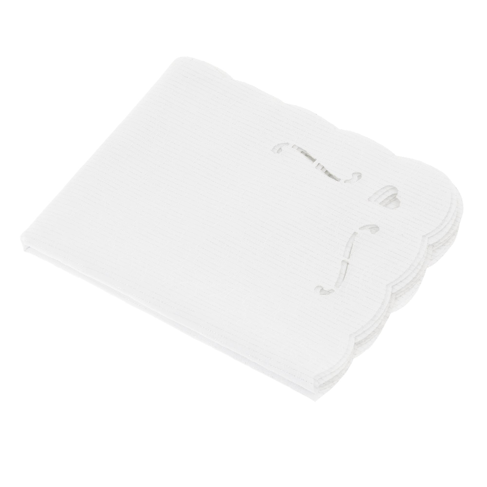 Набор 4шт салфетки под горячее белые Morbiflex casa фото