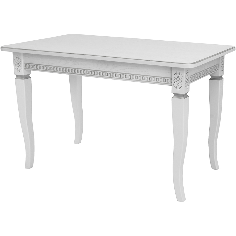 Стол Leset Дакота 1Р белый+патина серебро спальня дакота