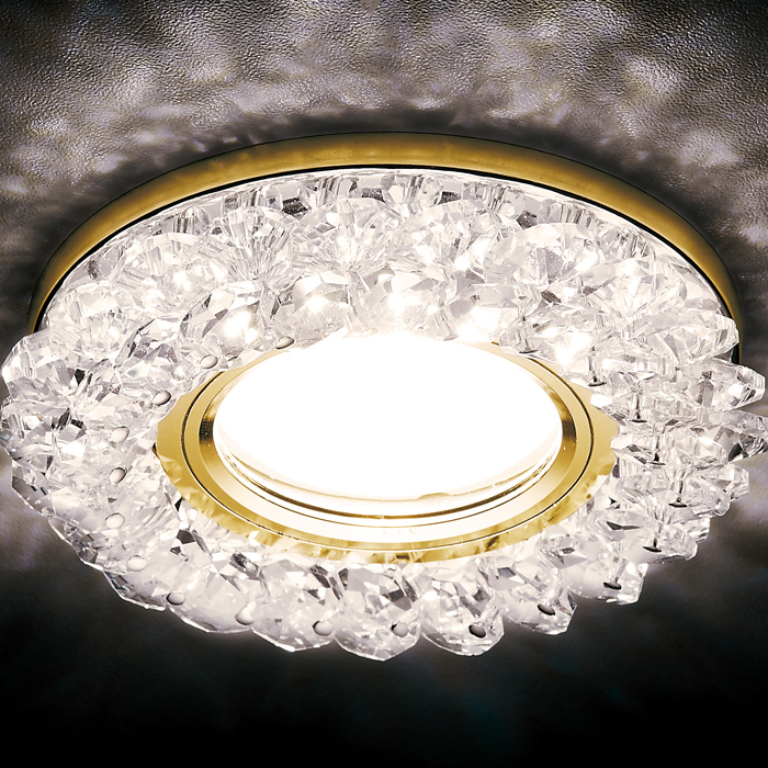 Светильник Ambrella light s701 cl/gd/wh золото/прозр