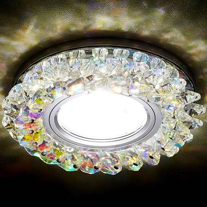 Светильник Ambrella light s701 pr/ch/wh хром/перлам встраиваемый светильник ambrella light led s175 pr ch