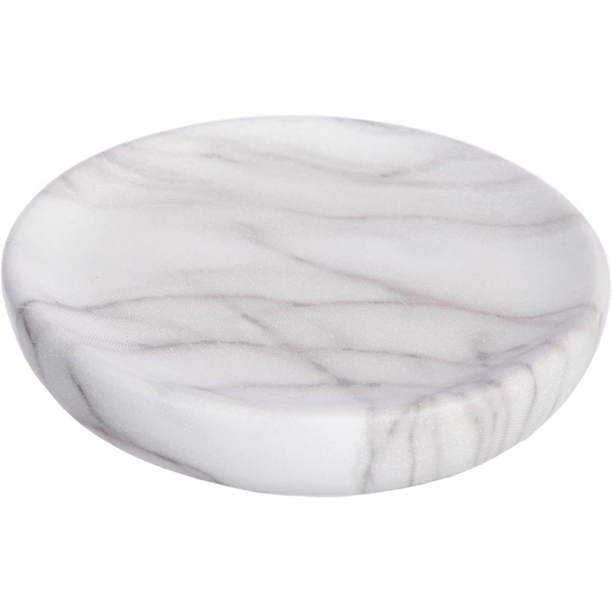 Мыльница Vanstore Белый мрамор 11х3 см