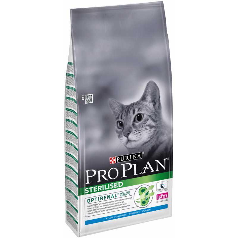 Корм для кошек Pro Plan Для стерилизованных, кролик 1,5 кг корм для кошек sirius для стерилизованных кошек и котов 10 кг