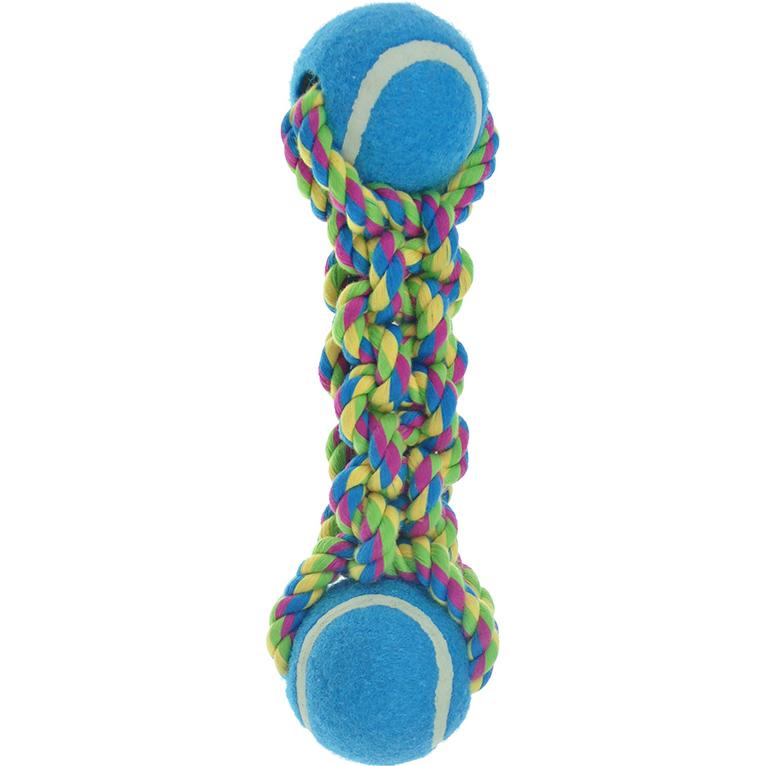 Игрушка для собак CHOMPER Pipsqueak Гантель с теннисными мячами В ассортименте игрушка для собак chomper puppy канат в ассортименте