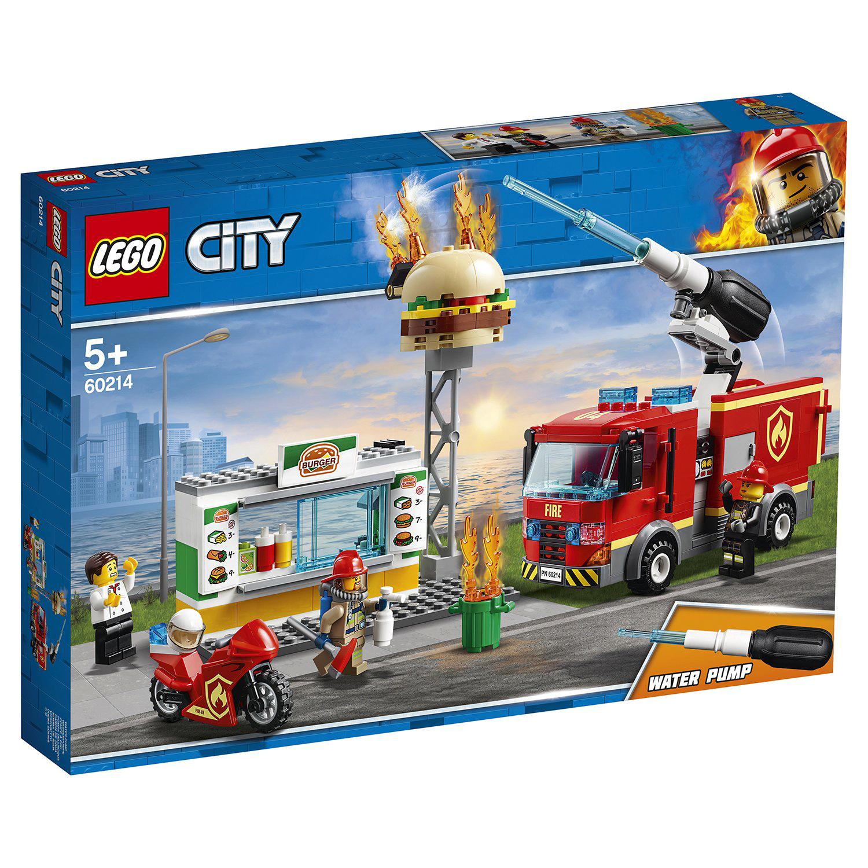 Конструктор Lego City Fire Пожар в бургер-кафе конструктор lego city 60214 пожар в бургер кафе
