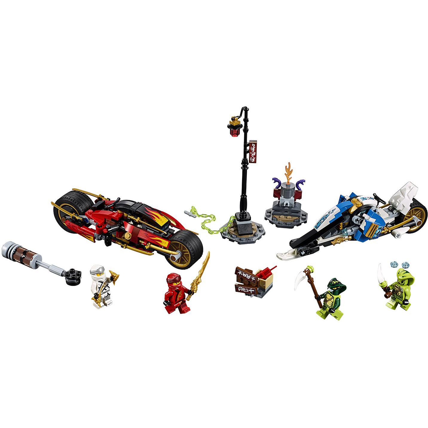 Купить Конструктор Lego Ninjago Мотоцикл-клинок Кая и снегоход Зейна 70667, пластик, для мальчиков, Конструкторы, пазлы