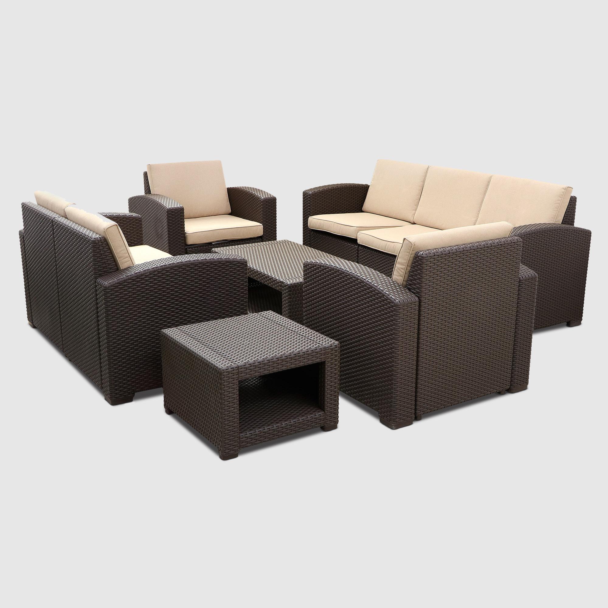 комплект садовой мебели Lf Extra Brown Beige