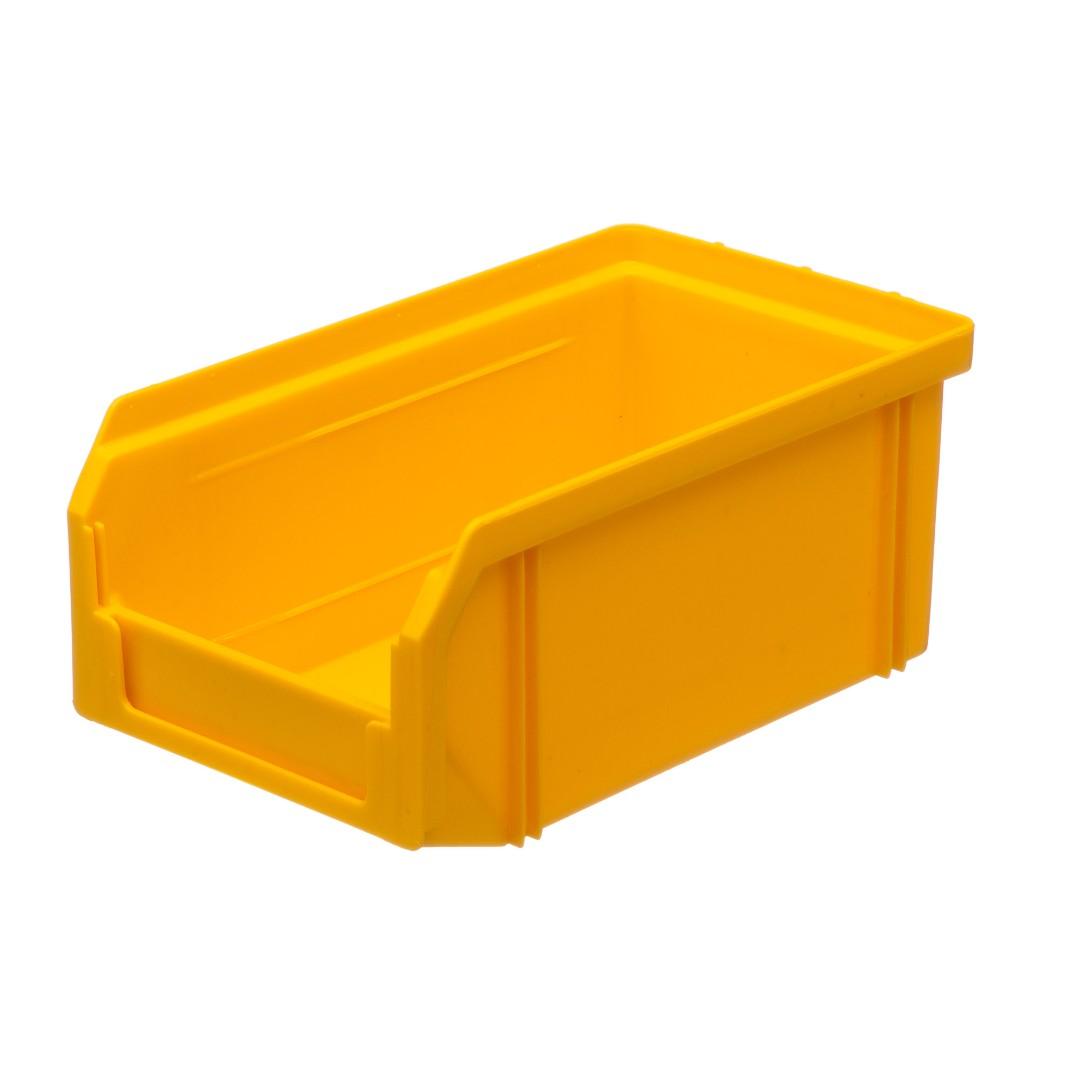 Пластиковый ящик Стелла v-1 (1 литр), желтый