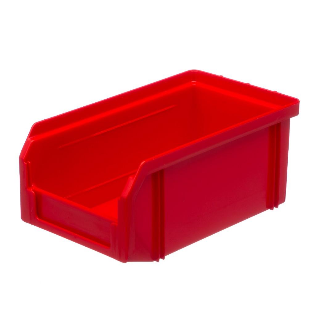 Пластиковый ящик Стелла v-1 (1 литр), красный