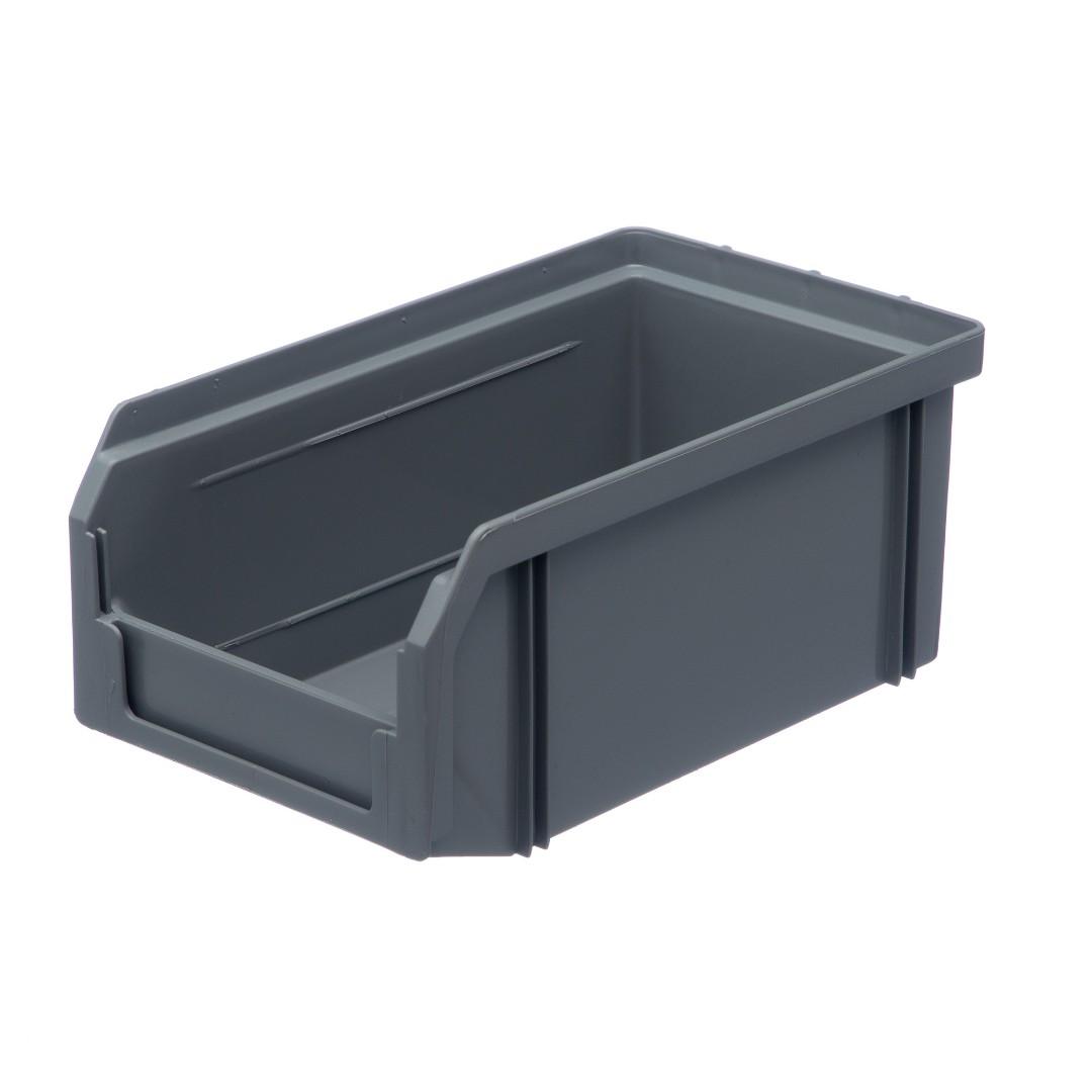 Пластиковый ящик Стелла v-1 (1 литр), серый