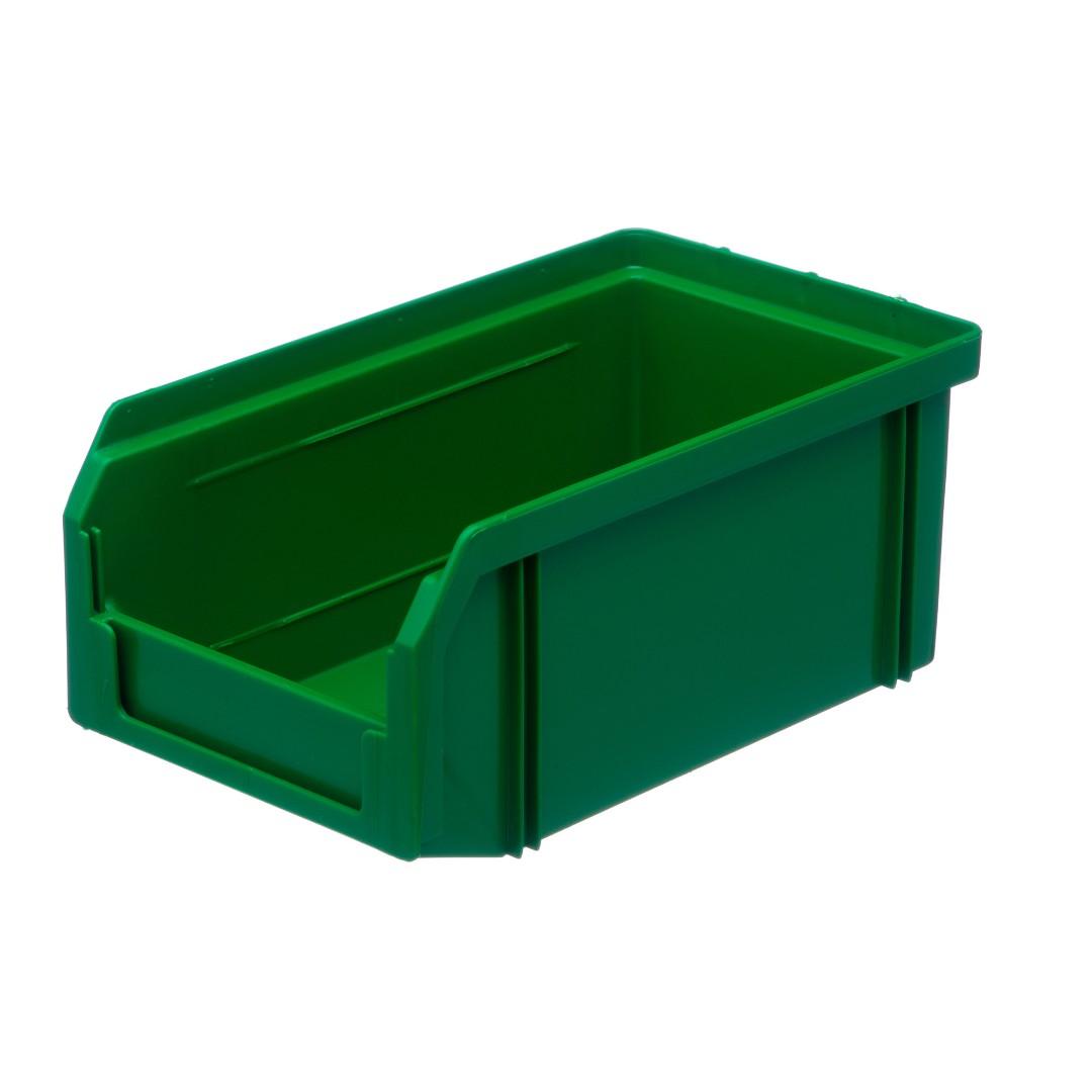 Пластиковый ящик Стелла v-1 (1 литр), зеленый