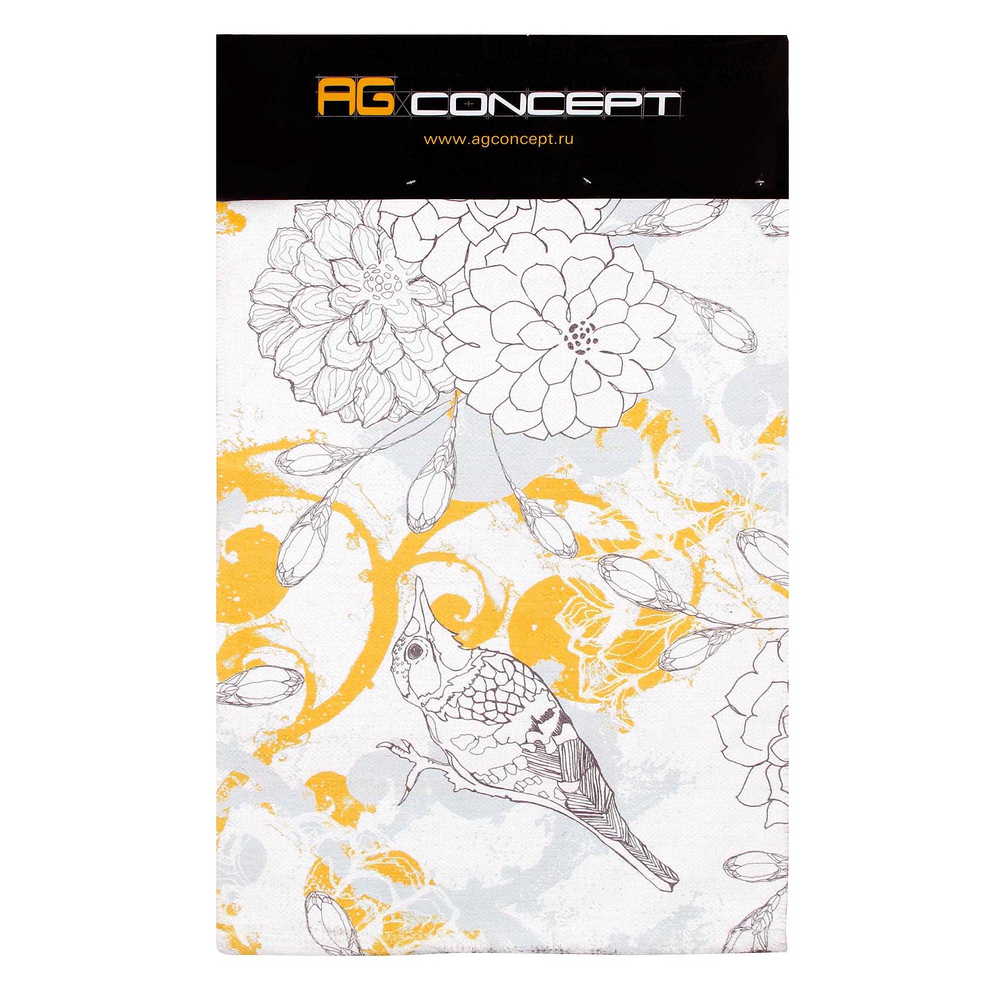 Коврик для ванной Ag concept birds 50х80 горчичный коврик для ванной листопад 50х80 см хлопок разноцветный